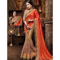 Heavy Embroidery Work Saree