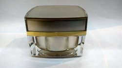 30 gms Grey Acrylic Square Cream Jar