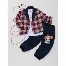 Denim (Jeans) Kids Dress Kids Boy Party Wear Dress