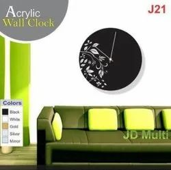 Multicolor Analog Acrylic Printed Wall Clock, For Interior Decoration, Size: Ciustomized