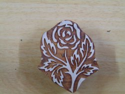 Rose Pattern Wooden Printing Blocks