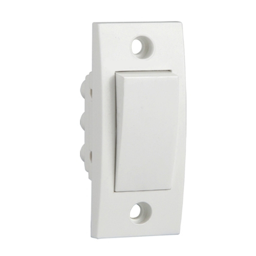 Schneider Electric White One Way Switch, Switch Size: 1 Module