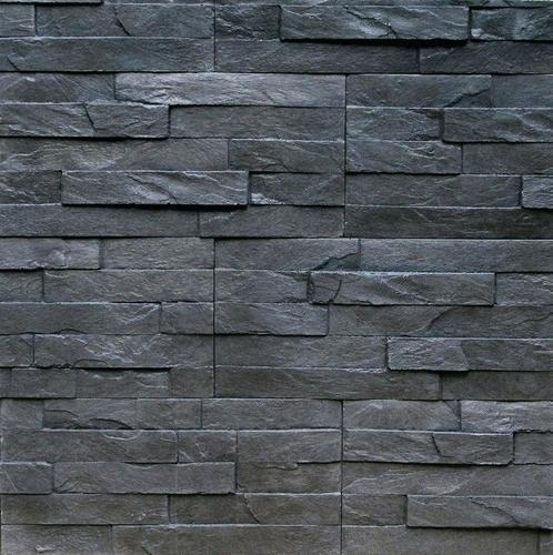 Black slate wall stone cladding 40 mm rs 85 square feet - Stone cladding on exterior walls ...