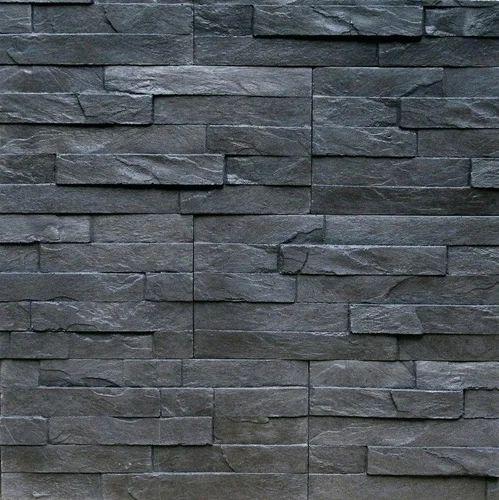 Slate Stone Elevation : Black slate wall stone cladding mm rs square feet