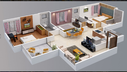 5 BHK Residential Flats Design Service
