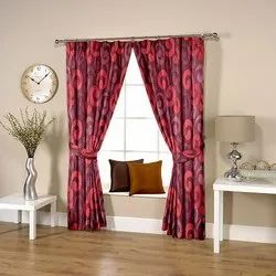 Caligraphic Purple Curtain