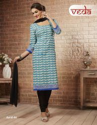 Cotton Dress Material With Chiffon Dupatta