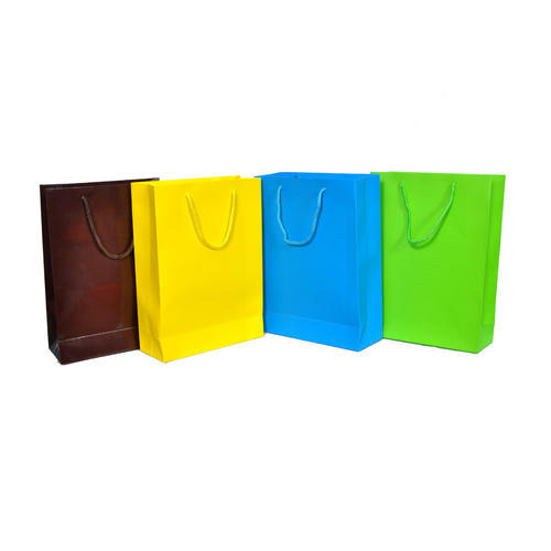 f55c05ac484 Plain Rope Handle Colored Paper Bags