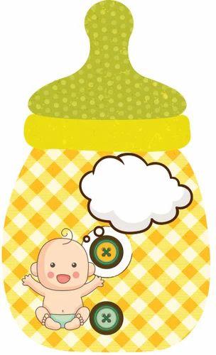 Multicolor Bottle Baby Shower Invites