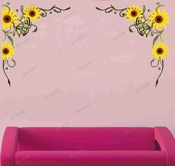 Excellent Decor Kafe Sunflower Flower Wall Stickers Living Room Wedding Room Decoration Home Decor Interior Design Ideas Helimdqseriescom