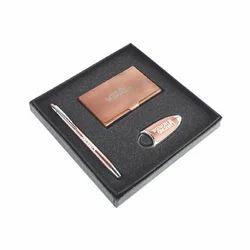 Copper 3 In 1 Corporate Gift Set