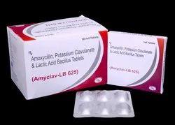Amoxycillin Trihydrate 500mg,Clavulanic Acid 125mg & Lactic Acid  Tablets