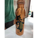 Designer Printed Copper Bottle