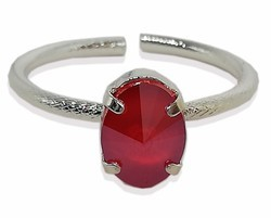 Dyed Ruby 925 Sterling Silver Row Band Fine & Fashionable Pretty Jewelry Ring For Women