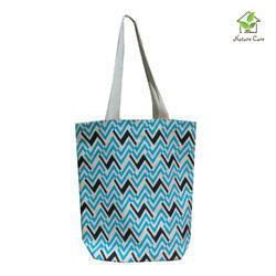 Canvas Bag with two colored chevron print