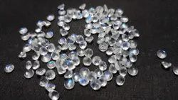 Natural Rainbow Moonstone Round Shape Calibrated Cut Faceted Loose Gemstone, 3mm To 10mm