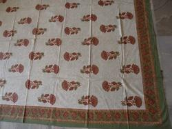 Hand Block Printed Cotton Jaipuri  Bed Cover