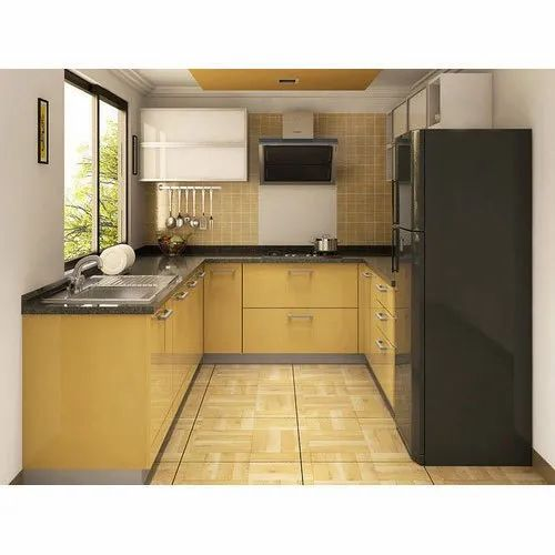 Creative Interiorz Wooden U Shape Modular Kitchen