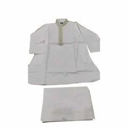 White Cotton Kids Kurta Pajama