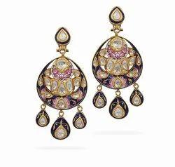 Dangle Bridal Wear 22 Kt Gold Earrings
