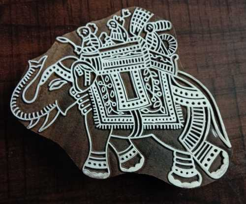ada30d2d4e46 Traditional Elephant Riding Designs Block Print Stamp Dyi at Rs 350 ...