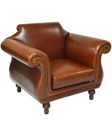 Vintage Chesterfield Genuine Leather Single Seater Sofa