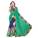 Georgette Party Wear Ladies Embroidered Partywear Saree