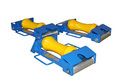 Polyurethane Coated Pipe Roller Multi Directional