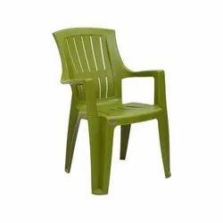 Modern Green Armrest Plastic Chair