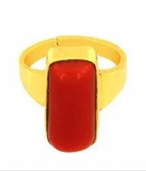 Red Coral Rings Asthdhatu Gemstone