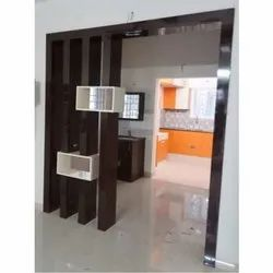 Modern Brown Modular Wooden Partition, for Home