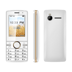 2.4 Inch White Feature Phone