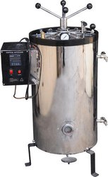 Vertical Double Walled Radial Locking SS Lining Autoclave
