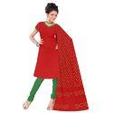 Red Bandhej Suit