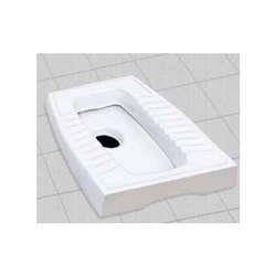 Parth Marketing Floor Mounted White Ceramic Indian Toilet Seat, for Bathroom Fitting