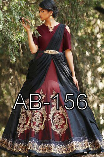 94a75b9b1 Party Wear Latest Designer Digital Printed Floor Touch Flair Ladies Ethnic  Gown