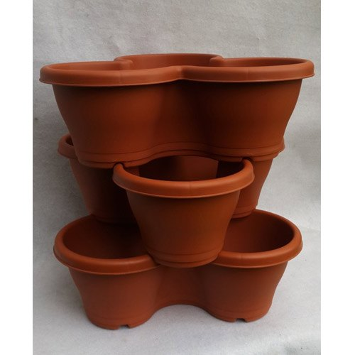 Brown Stacking Pots