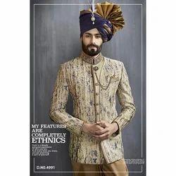 Cotton Designer Printed Jodhpuri Blazer, Size: S - XXL