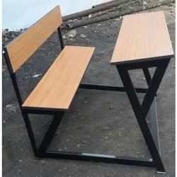 Dual Desk With Rectangular Pipe