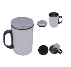 Stainless Steel Mug with Lid