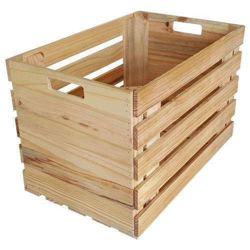 Rectangle Pine Wooden Crate