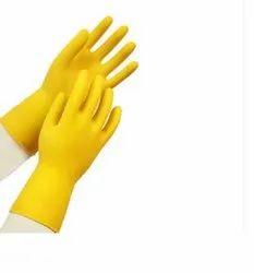 Latex Household Gloves Flocklined Average 45 gms