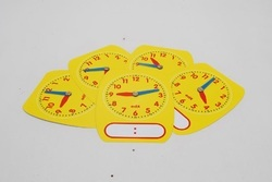 Student Clock Write & Wipe Teaching Aid