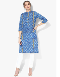 Blue Printed Cotton Kurti
