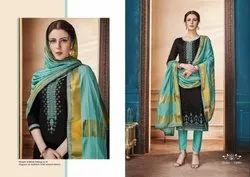 Zanzar -Kessi Traditional Jam Silk Cotton With Embroidery Work Salwar Suits Collection