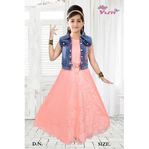 5b97371e8e63b Kids Party Wear Gown With Jacket, Size: 28 To 42, Rs 725 /piece | ID ...
