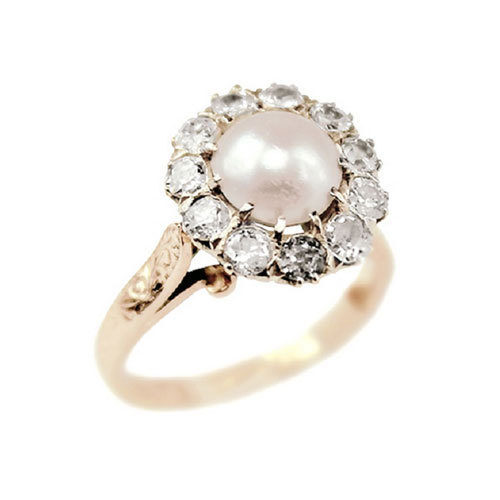 luxurious diamond pearl ring studio rings as decor real and home