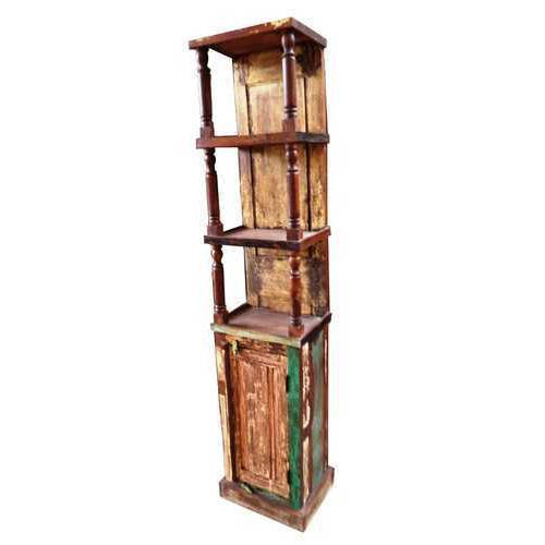Brown Solid Wood Painted Wooden Bookshelf
