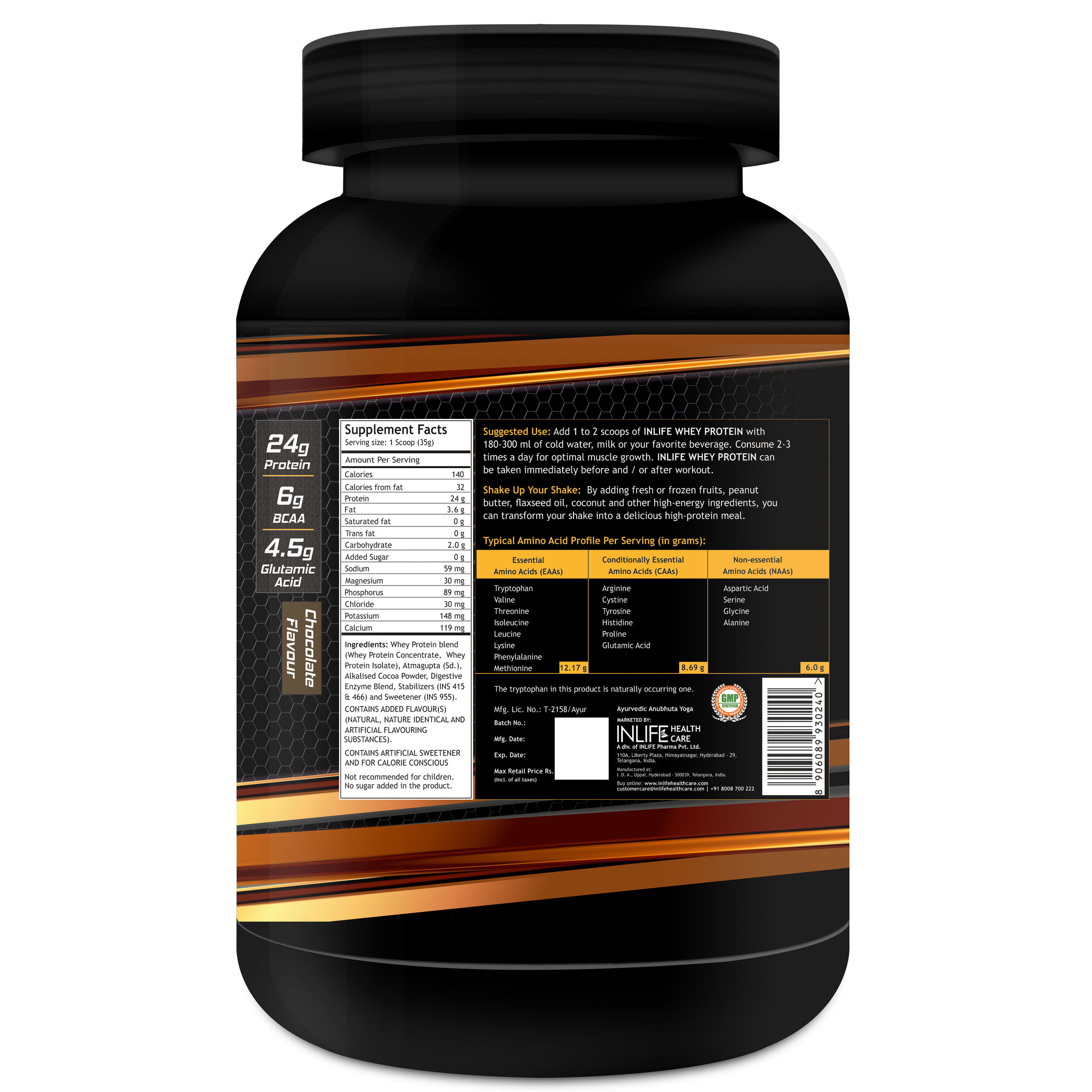Muscle Building Chocolate Whey Protein Powder Packaging Type: Bottle 0 - 1 Kg Rs 1400 /piece
