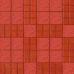 Red Natural Stone Chequered Floor Tile, Thickness: 6 - 8 mm, Size: Medium